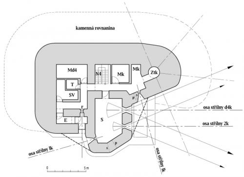 Plán horního patra objektu StM-S 31b