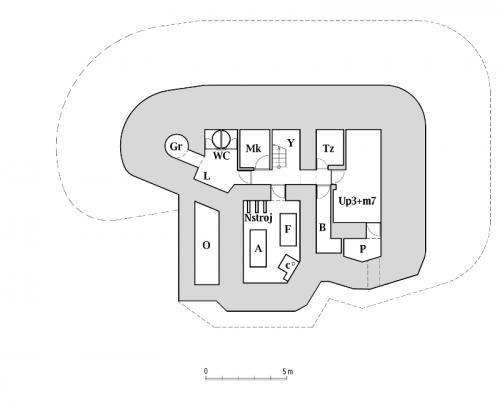 Plán dolního patra objektu StM-S 31a