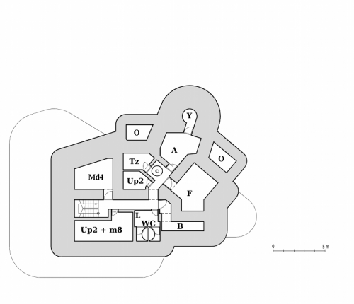Plán dolního patra objektu StM-S 30