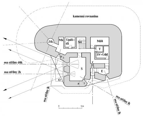 Plán horního patra objektu StM-S 31a