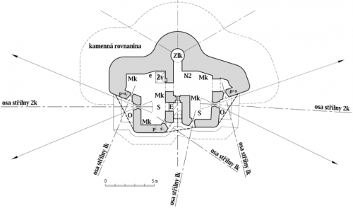 Plán horního patra objektu StM-S 33