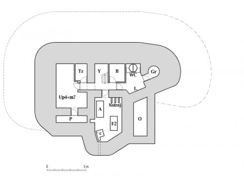 Plán dolního patra objektu StM-S 31b